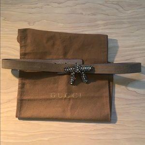 Gucci bow tie belt